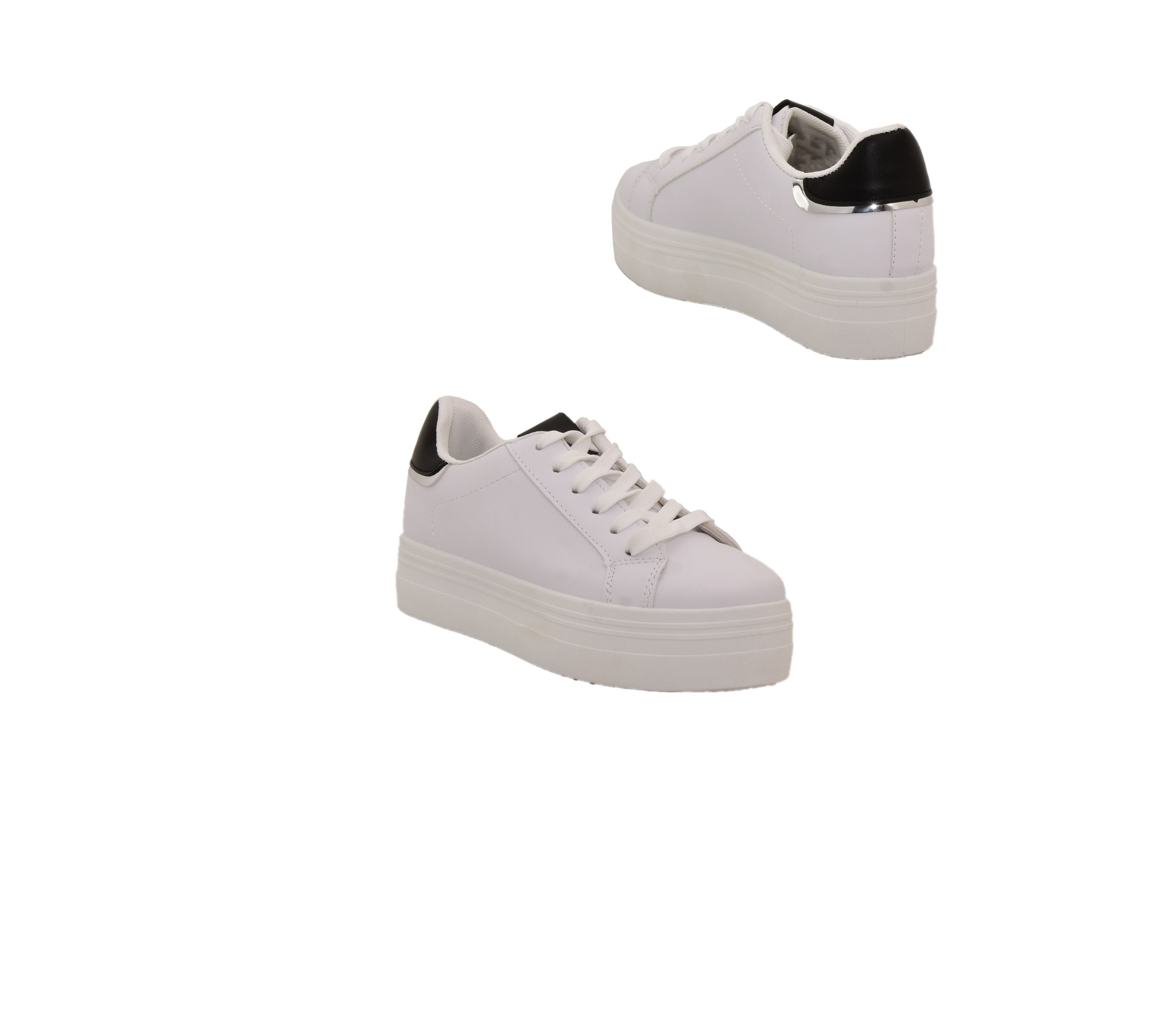 official photos 0c46d 7b80c Damen Sneaker mit Dicke Sohle in weiß Sportschuhe Plateausohle